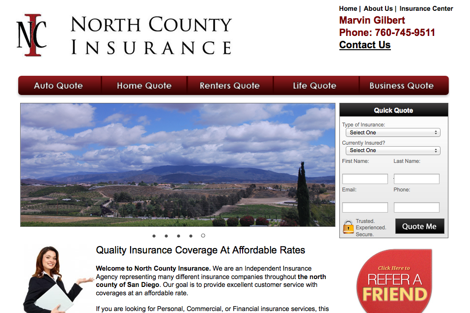 Welcome North County Insurance Home Quotes And Sayings Trust