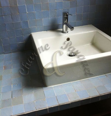 Plan Vasque En Zellige 5x5 Salle De Bain Zellige Salle De Bain Plan Vasque