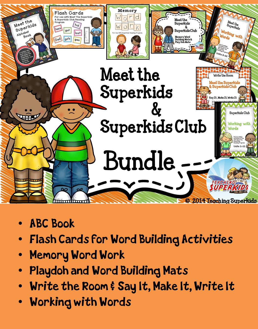 Kindergarten Superkids BUNDLE | Word work, Kindergarten and Activities
