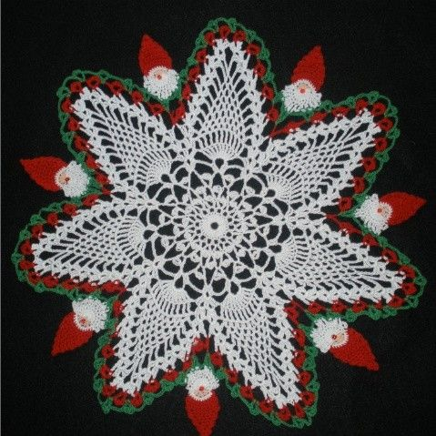 Santa Claus Christmas Doily Jul Pinterest Santa Crochet And