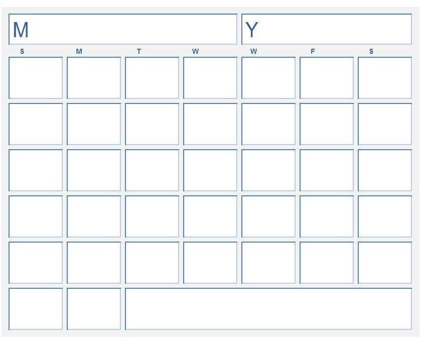 Blank Calendar Template Monday Through Friday #blankcalendar