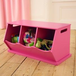 Fultontriple Stacking Storage Trunk Chest Unit Pink For Kids Girls