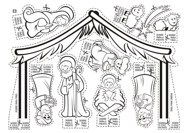Nativity Template Nacimiento Para Colorear Pesebres Para Colorear Pesebre De Navidad