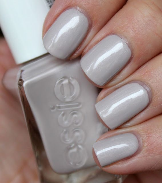 Essie Make The Cut Pearlized Greige Light Grey Nail Polish Lacquer Vernis From Gel Couture Collection Nailtastic