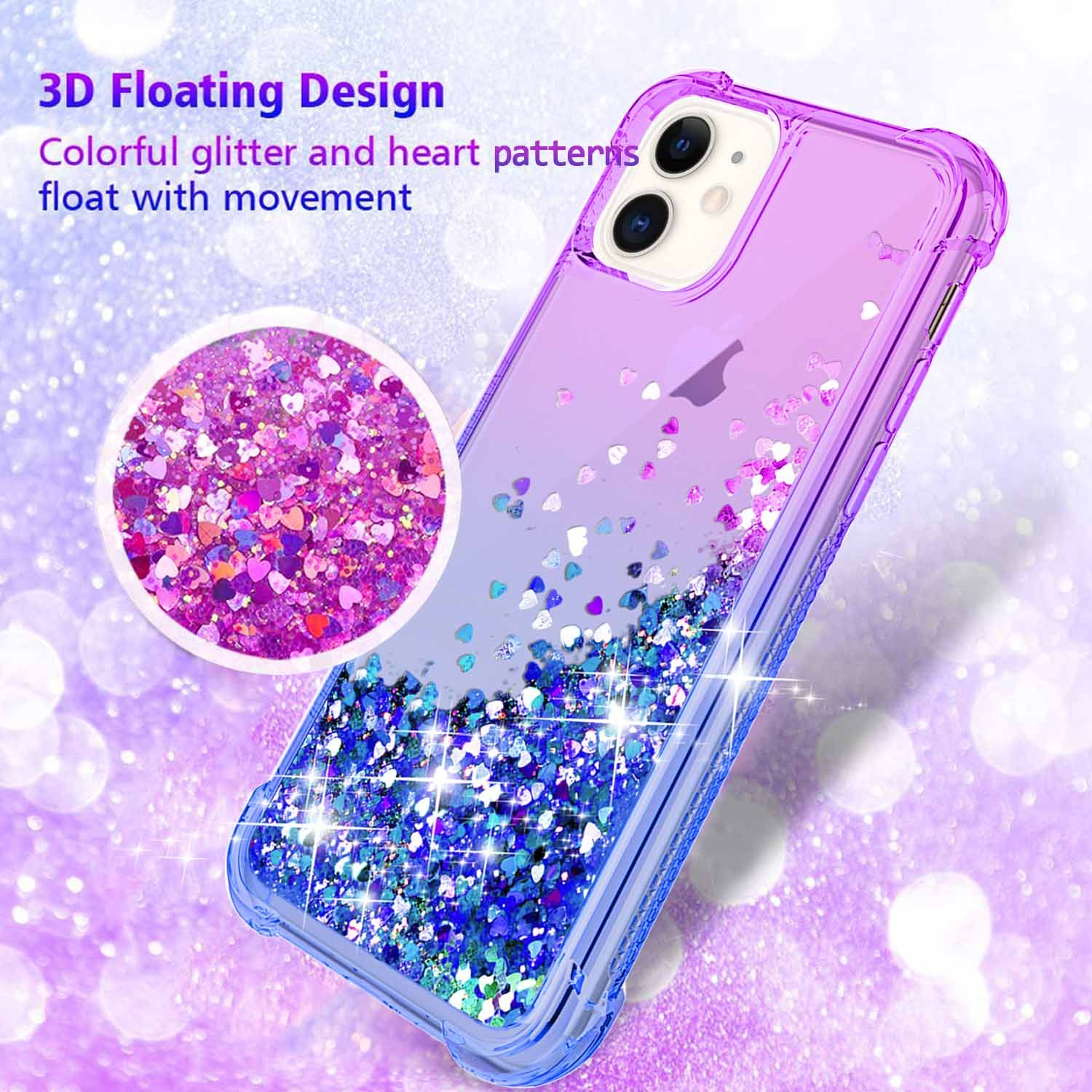 Iphone 11 Pro Max Case Pink Blue Glitter Flowing Liquid Girly Phone Case Girly Phone Cases Iphone Case Stickers Iphone Phone Cases