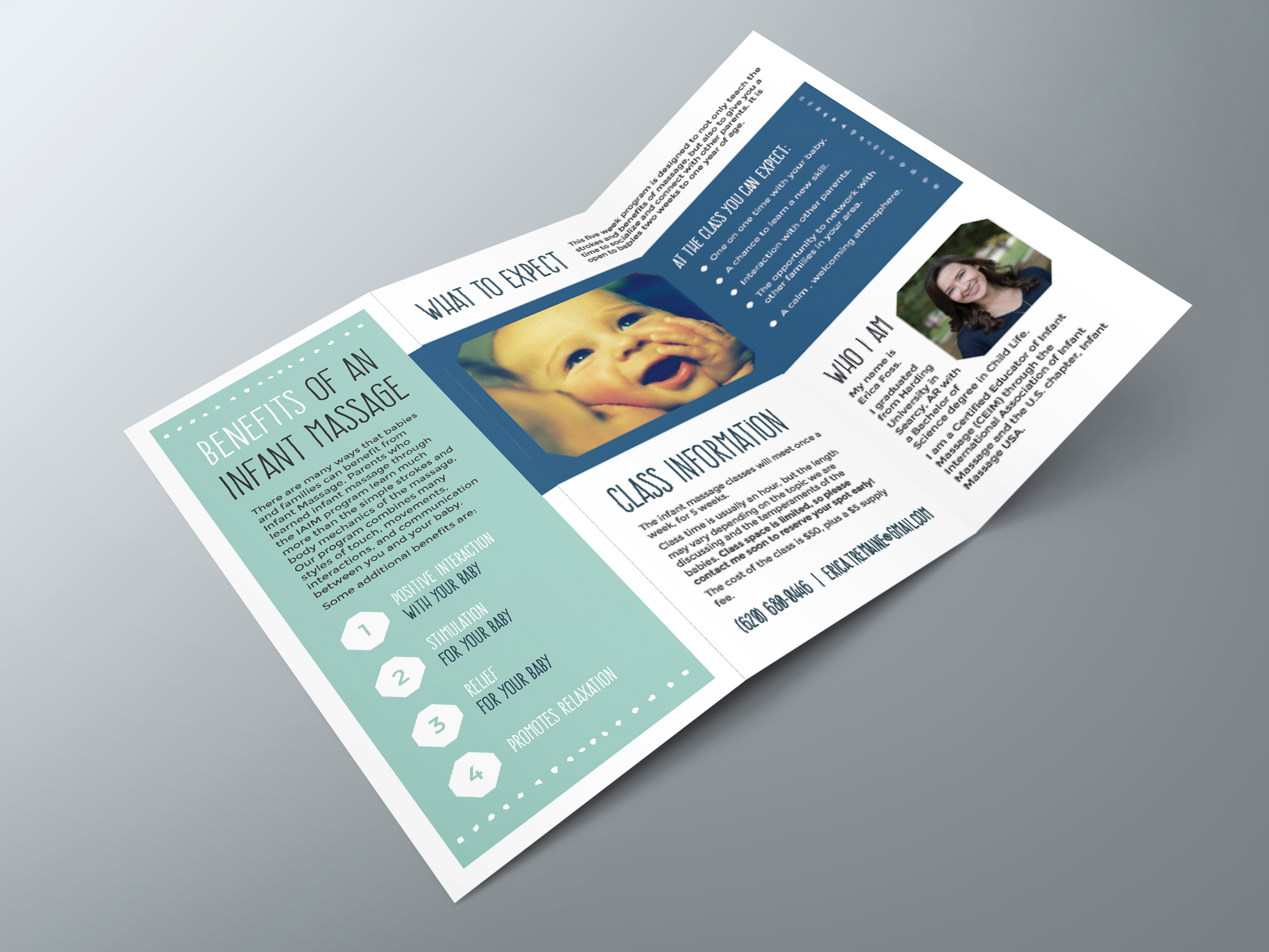 Business Brochure  Infant Massage Brochure  Doula