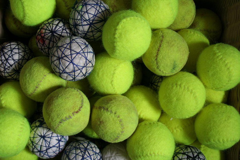 Basket Of Real Tennis Balls Real Tennis Tennis Tennis Balls