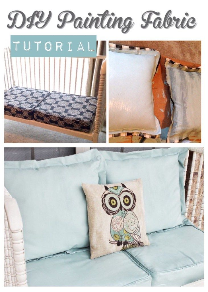 How To Paint Fabric Diy Cushion Painted Furniture Fabric Painting
