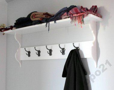 Wieszak Bialy Drewniany Do Przedpokoju Vintage 6254896832 Oficjalne Archiwum Allegro Home Diy Clothes Hanger Diy