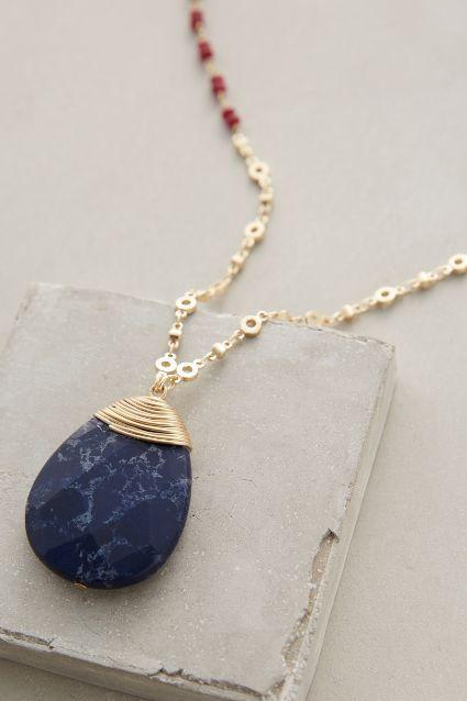 d53c41fb201 Wrapped Lapis Pendant Necklace - anthropologie.com  bijoux  bijouxcreateur   france  paris  bijouxfantaisie  jewelry