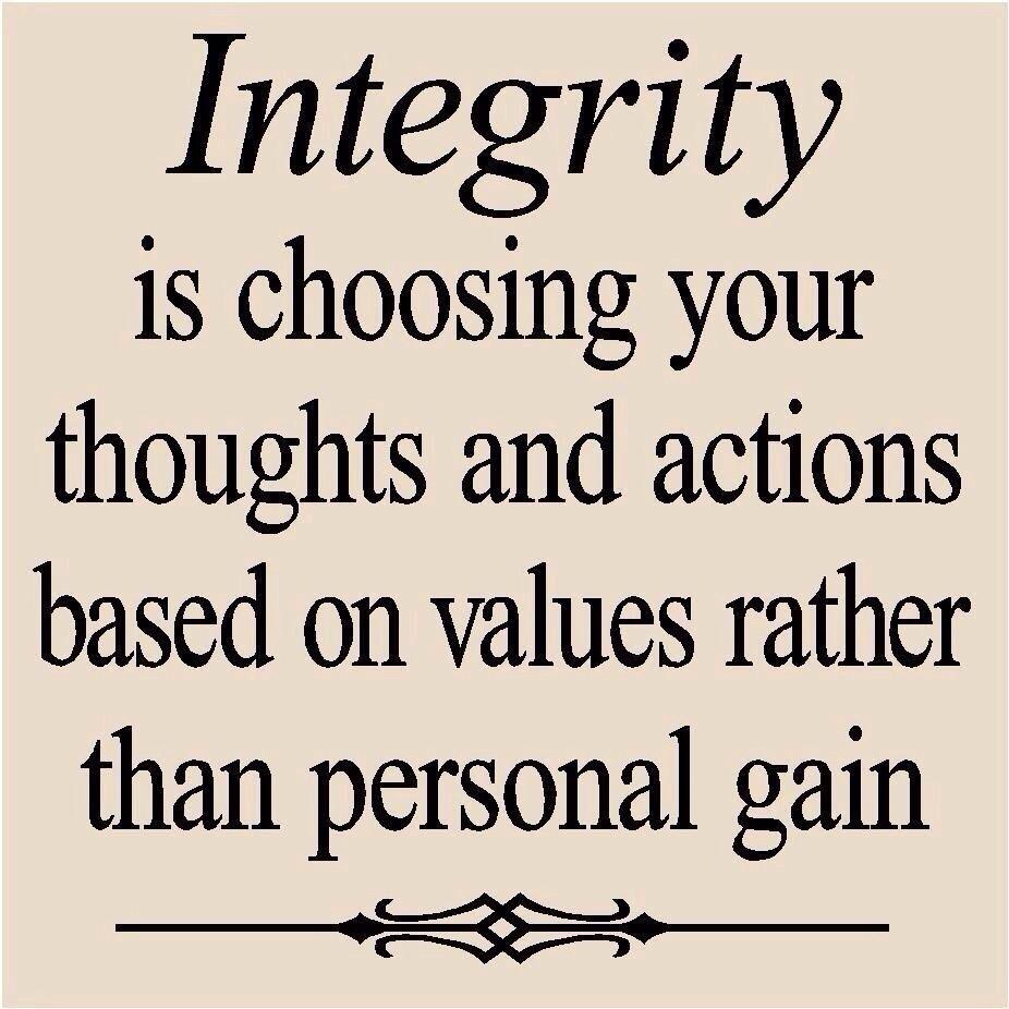 how I feel a bout Integrity!!