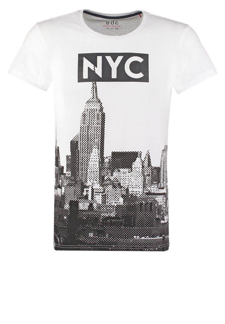 edc by Esprit Camiseta print - white - Zalando.es