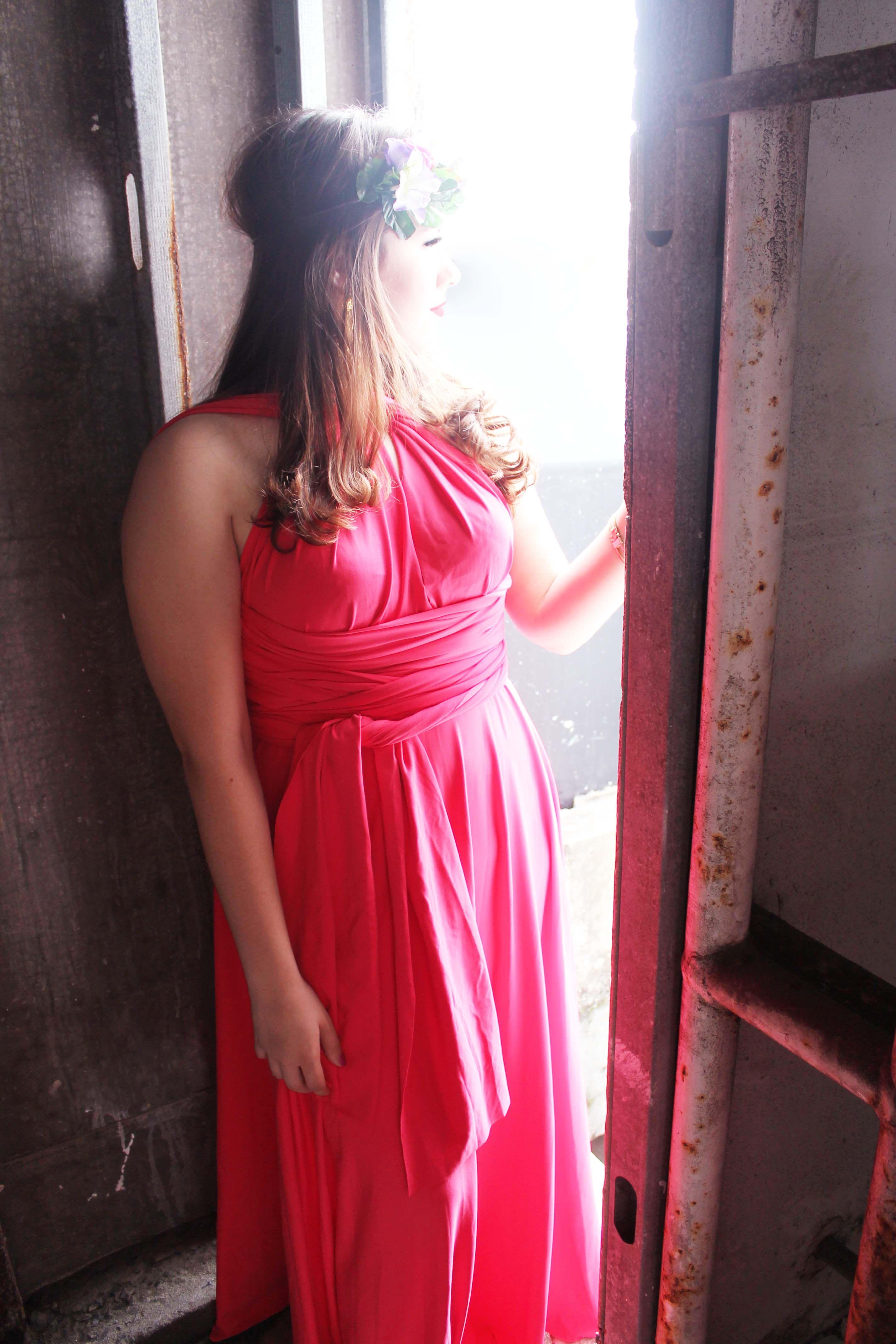 Bonita Vestido Convertible Rosa / Hot pink / Rosa mexicano / Vestido ...