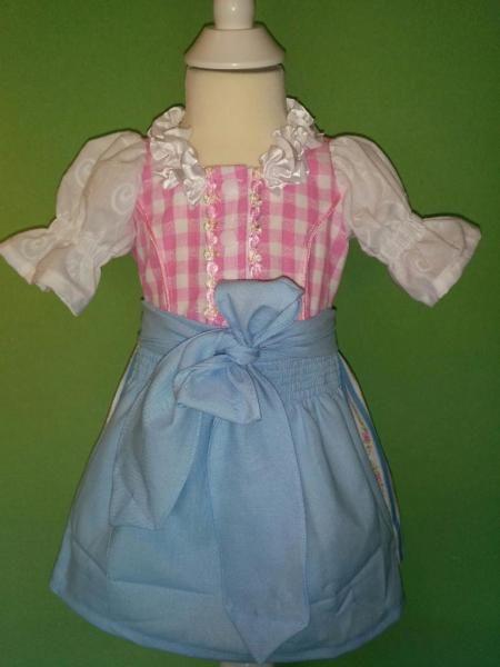 Das Kleid ist aus hübschem Trachtenstoff (Baumwolle) und ...