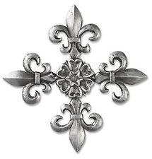 Decorative Wall Cross Fleur De Lis