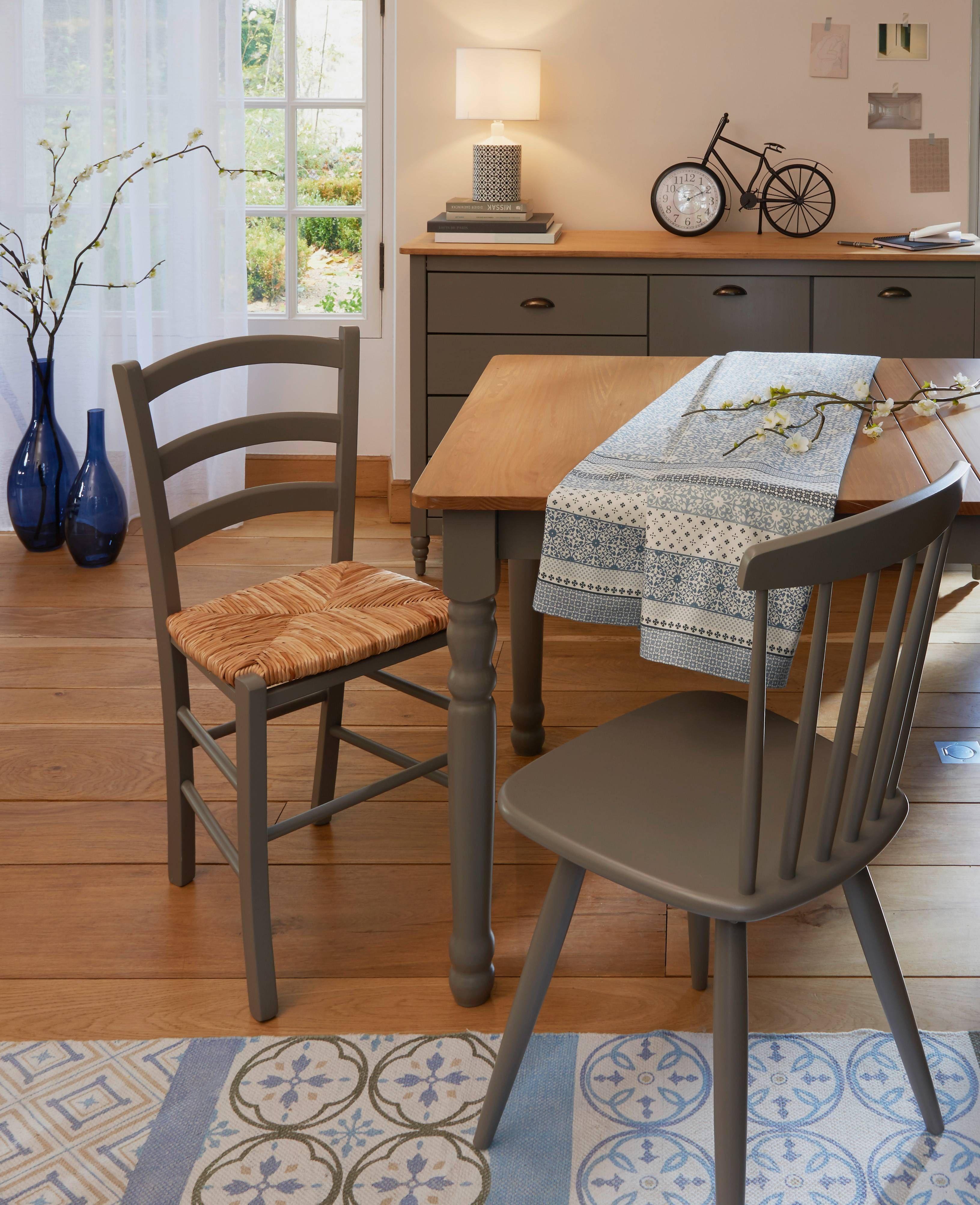 salle à manger rustique gris taupe - carrefour home   decoration