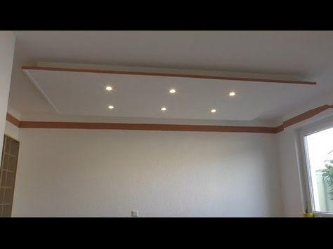 Decke abhängen und LED Strahler und LED Strips light einbauen ...