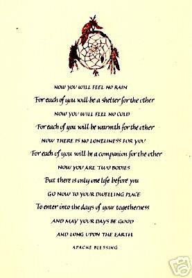 Native American Sayings Blessings Prayers Native American Apache Wedding Blessing A Native American Wedding American Wedding Native American Wedding Vases