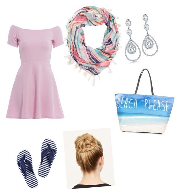 """Beach"" by swimmergurl1234 ❤ liked on Polyvore featuring AX Paris, Roxy, MARBELLA and Bling Jewelry"