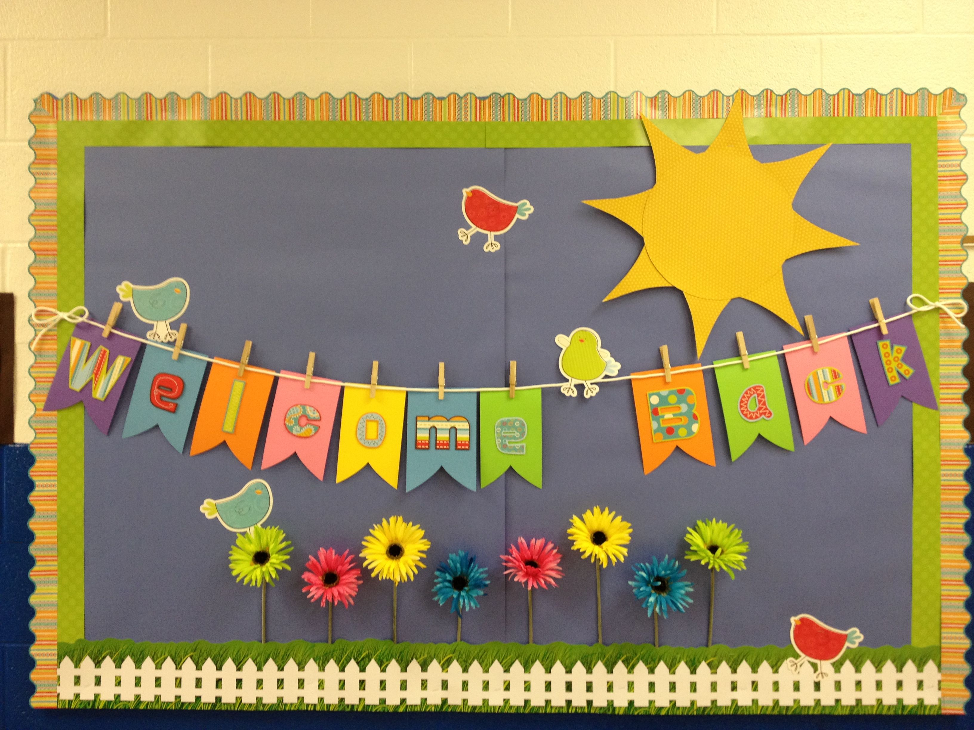 Classroom Design For Bulletin Board ~ Spring theme welcome back to school bulletin boards