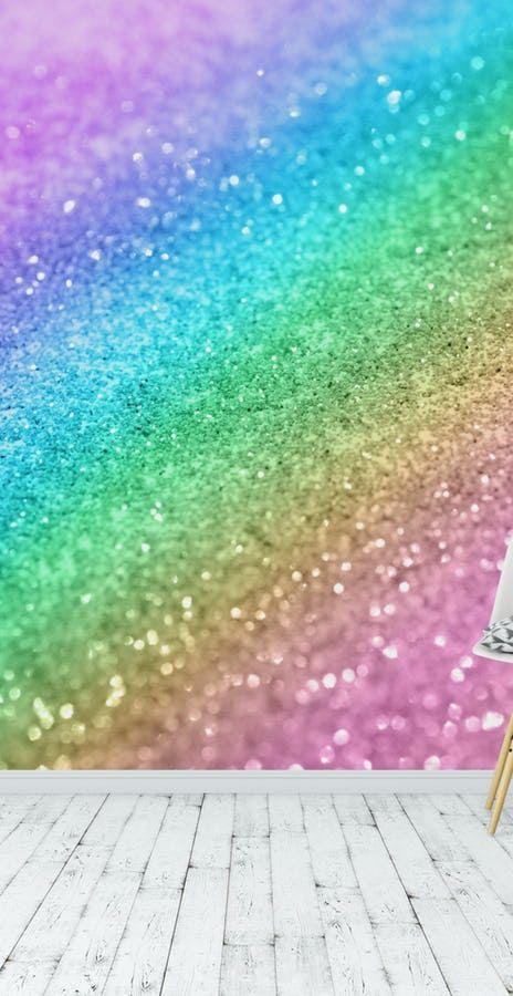 Best Rainbow Princess Glitter 1 Wall Mural Girls Bedroom 640 x 480