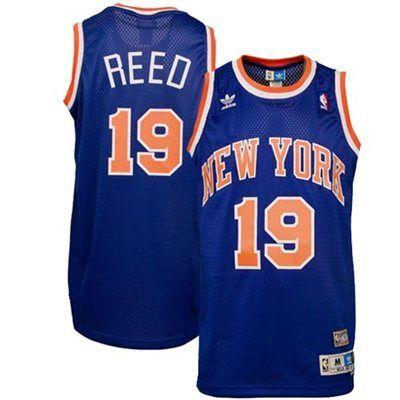 6fb58a90bd1 adidas New York Knicks Willis Reed Blue Hardwood Classics Soul Swingman  Throwback Jersey
