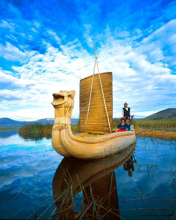 Peru Travel Tips Common Peruvian Phrases For Travel: Reed Boat On Lake Titicaca. Photo: Jim Zuckerman