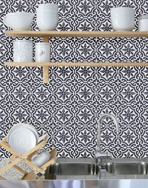 beautiful moroccan tile backsplash ideas geometric pattern open rh pinterest com