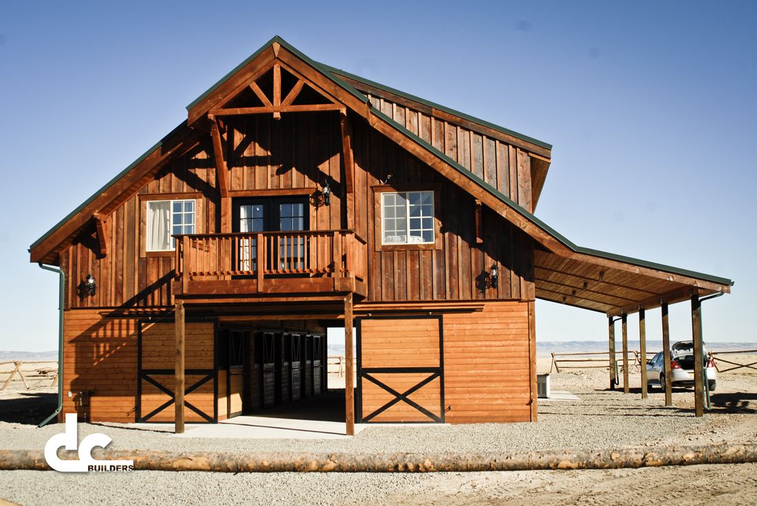 Barn with living quarters in laramie wyoming dc for Horse stable plans with living quarters