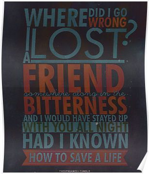 How to Save a Life Poster