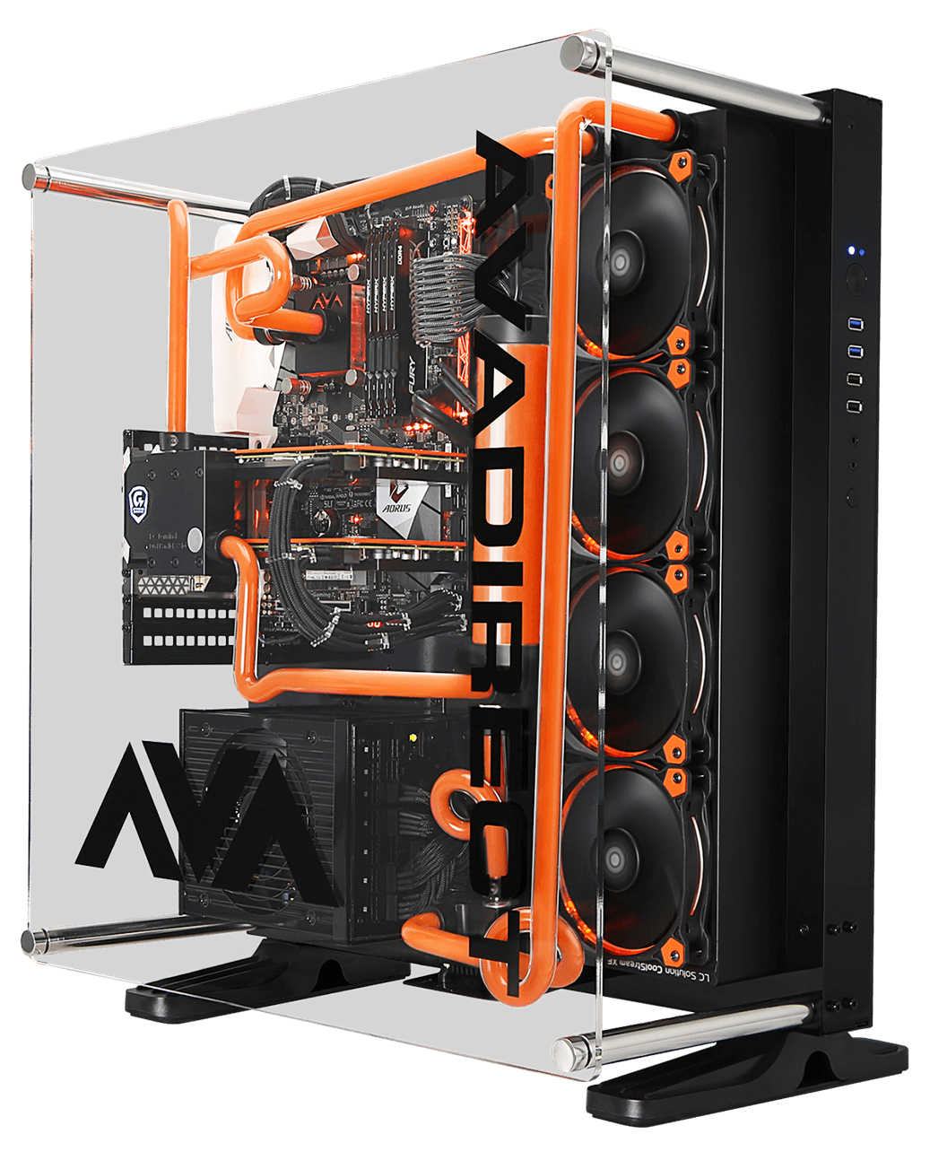 If You Re At Ces Come See The Ava Z270 Scorpio Is On Display At The Gigabyte Suite In Caesars Palace Palace Ba Custom Pc Custom Computer Case Gaming Pc Build