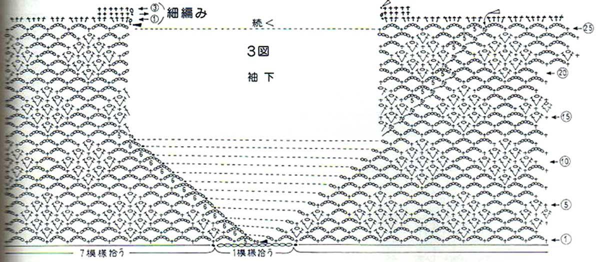 кофточки вязанные крючком со схемами и описанием: 21 тыс ...