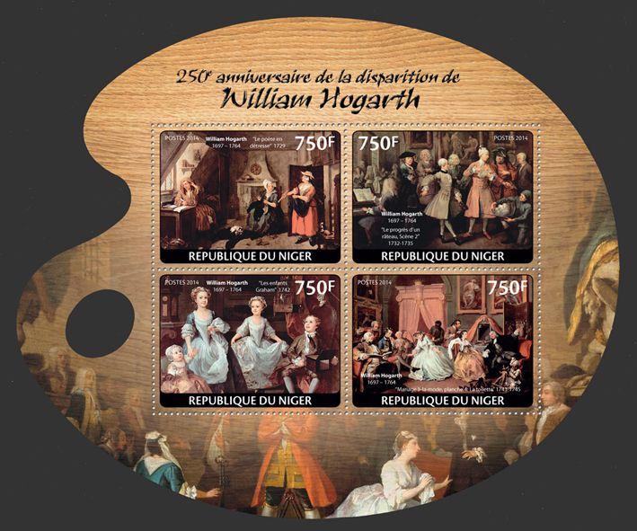 Nig 14125 A William Hogarth The Distressed Poet 1729 The