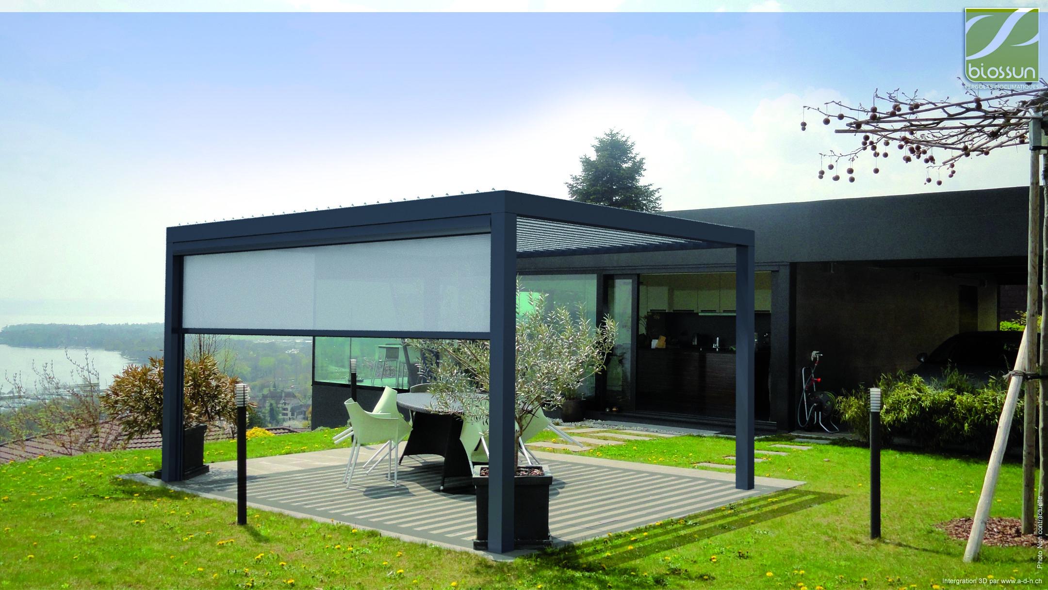 Biossun terrasoverkapping pergola couverture de terrasse ...