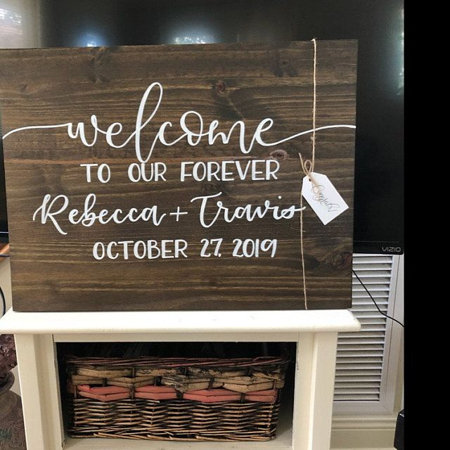 Wedding Welcome Sign   welcome to our forever sign, wedding welcome sign, custom wedding sign, welco #weddingwelcomesign
