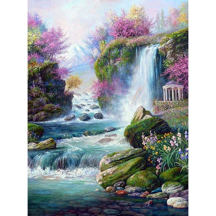 Diamond Painting Full Round Beautiful Scenery Nature Paintings Nature Art Prints Scenery Paintings