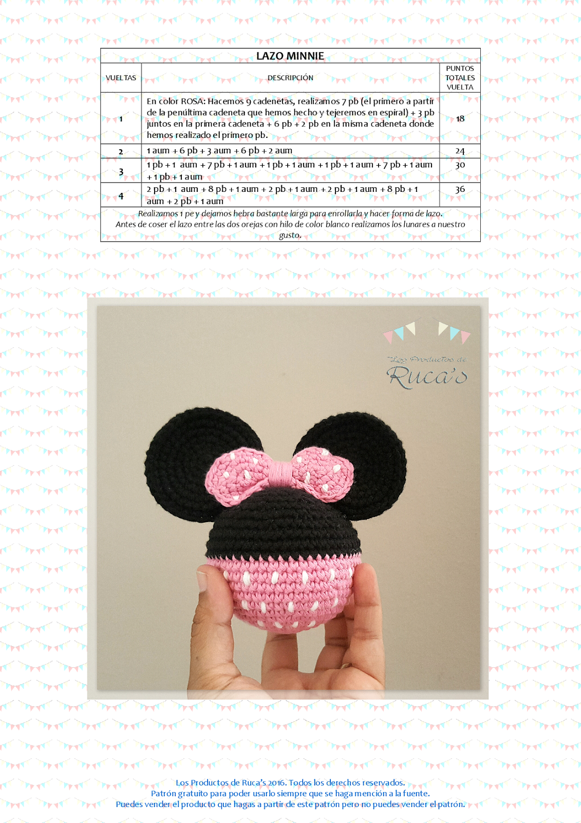 Reto Rucagurumis VI - Mantita de Apego Mickey / Minnie Mouse | mini ...