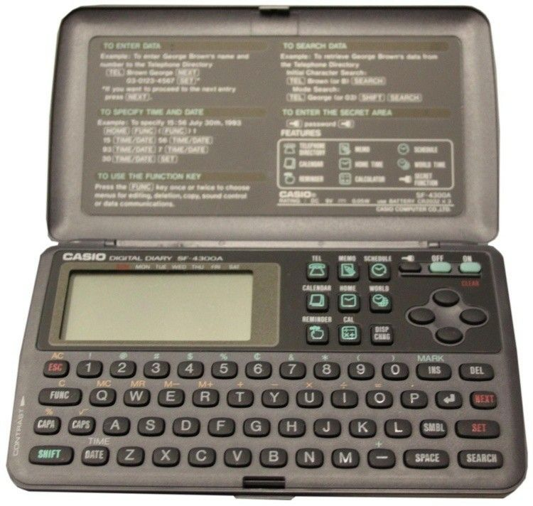 Casio Digital Diary SF-4300A | Technology I Love | Casio digital