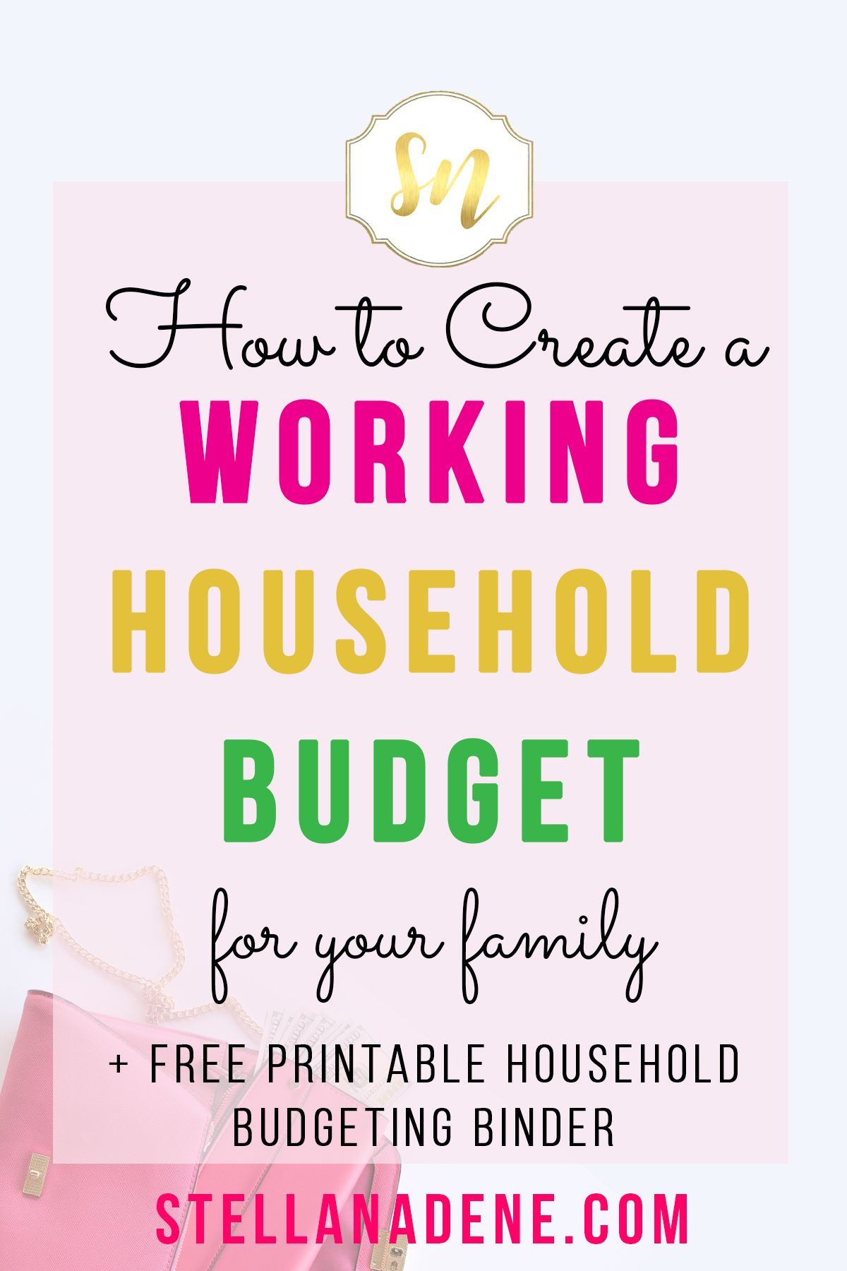 How To Create A Working Household Budget For Your Family