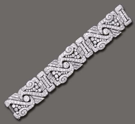 deco bracelet art floral pattern diamond side