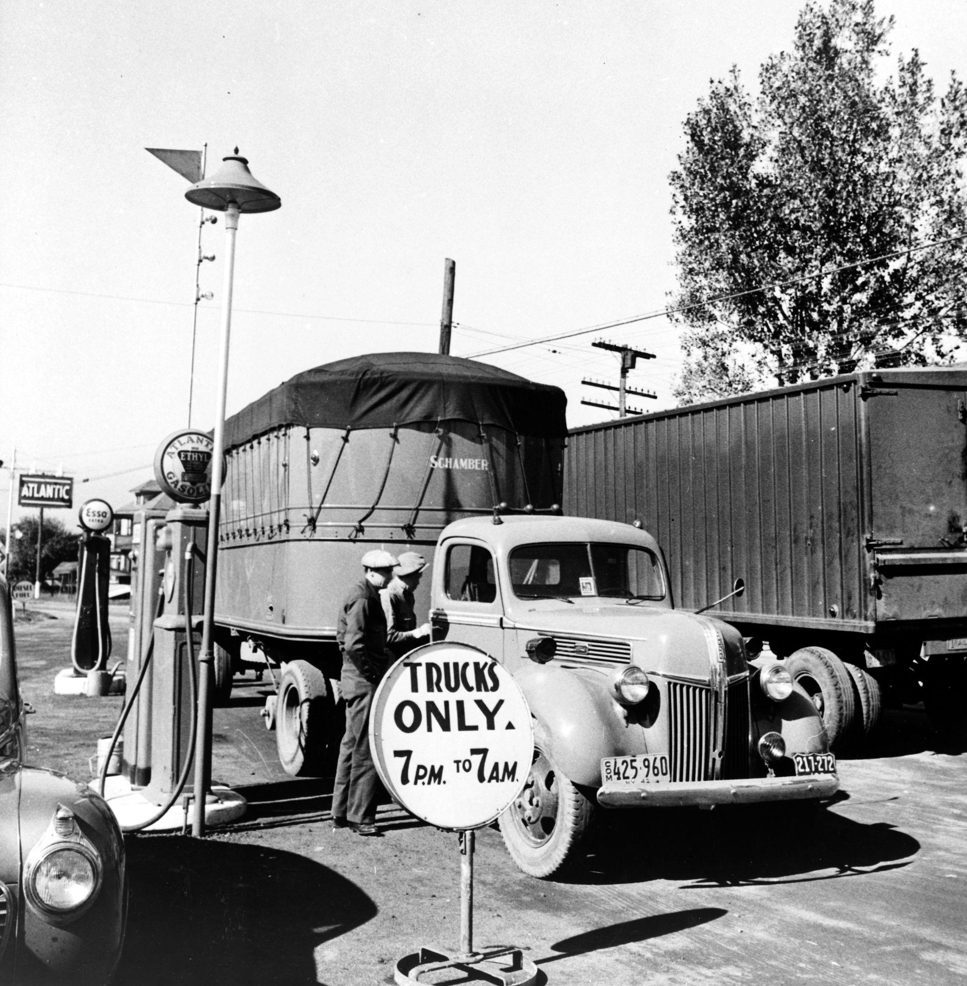 October 1941. Trucks On Highway En Route To Utica, New