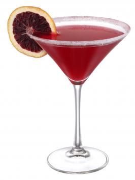 Blood Orange Martini ~~~ 3 oz. Stirrings Blood Orange Mixer;  1.5 oz. Ketel One vodka.  Garnish: orange wedge.   	  Directions:  Combine ingredients in shake with plenty of ice. Strain into rimmed glass. Garnish with an orange wedge.