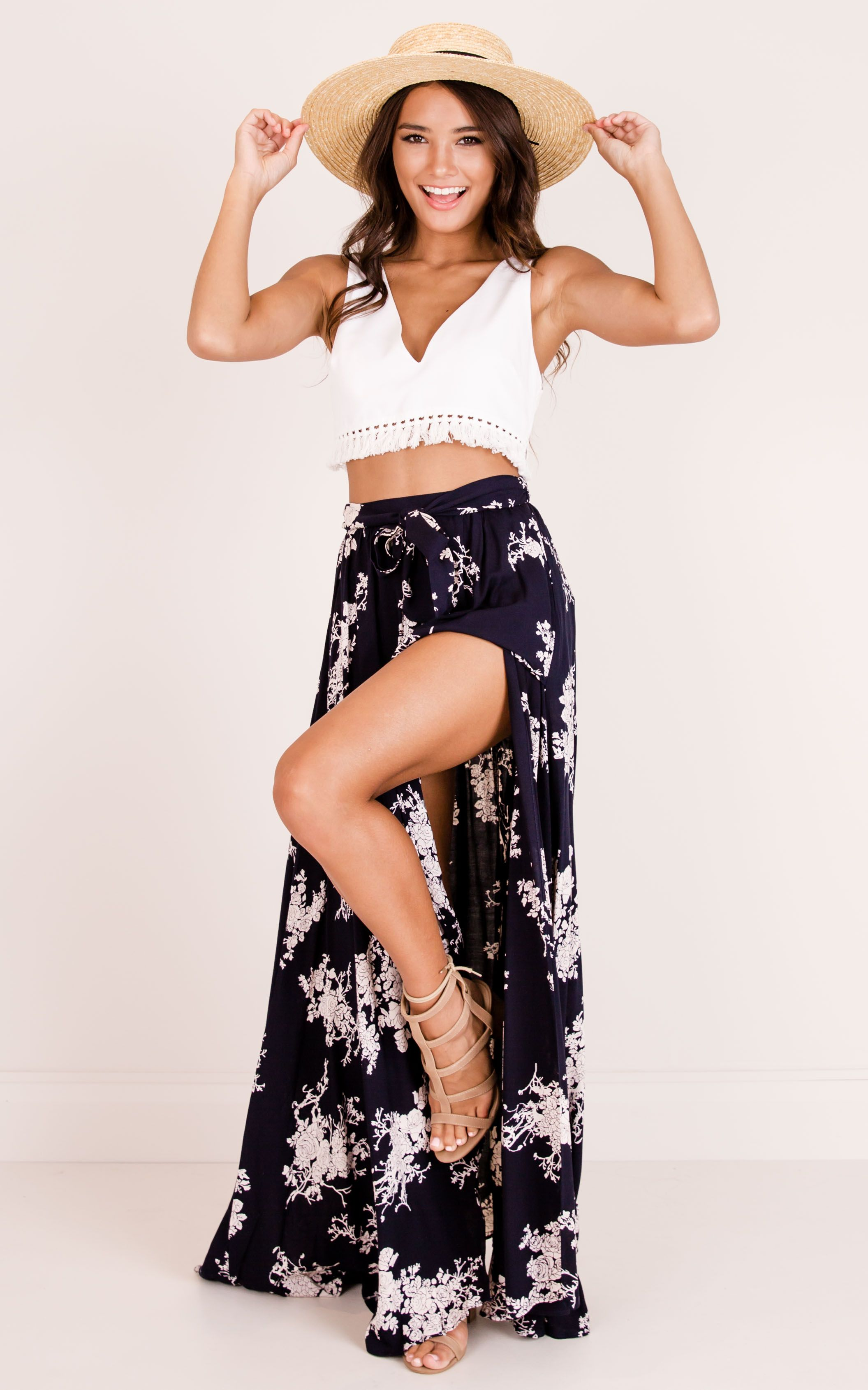 eb75944d05d45 Breath Of Fresh Air Maxi Skirt In Navy Floral | Styles I Want ...