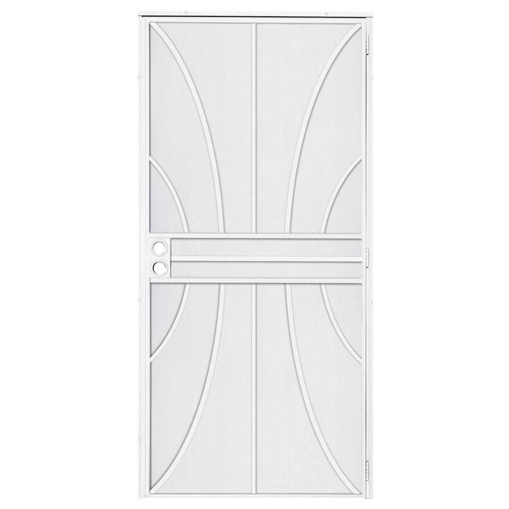 Unique Home Designs 36 in. x 80 in. Meridian White Surface Mount ...