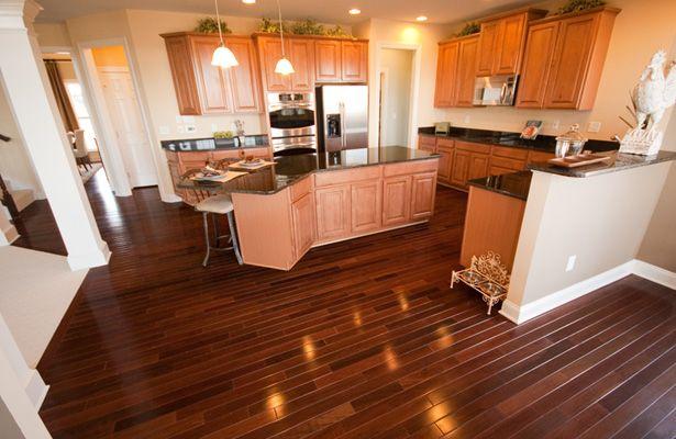 Kitchen With Brazilian Walnut Floors Kitchen Remodel Maple Kitchen Cabinets Kitchen Flooring
