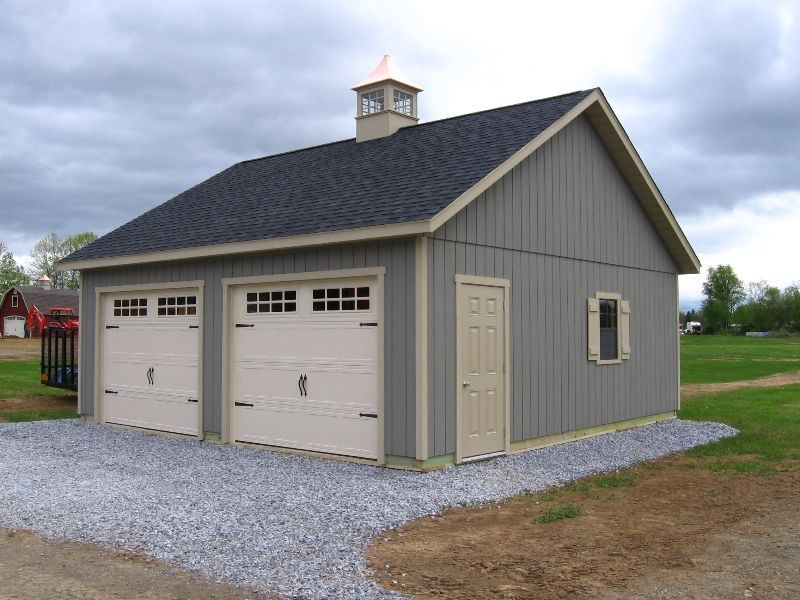 2 Car Garages NJ Amish Mike Barn style shed, Shed
