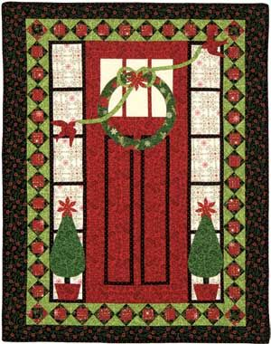 Home Treasures Quilting Patterns : Home for the Holidays Wall Quilt CHRISTMAS QUIILTS AND WALLHANGINGS Pinterest Patterns ...