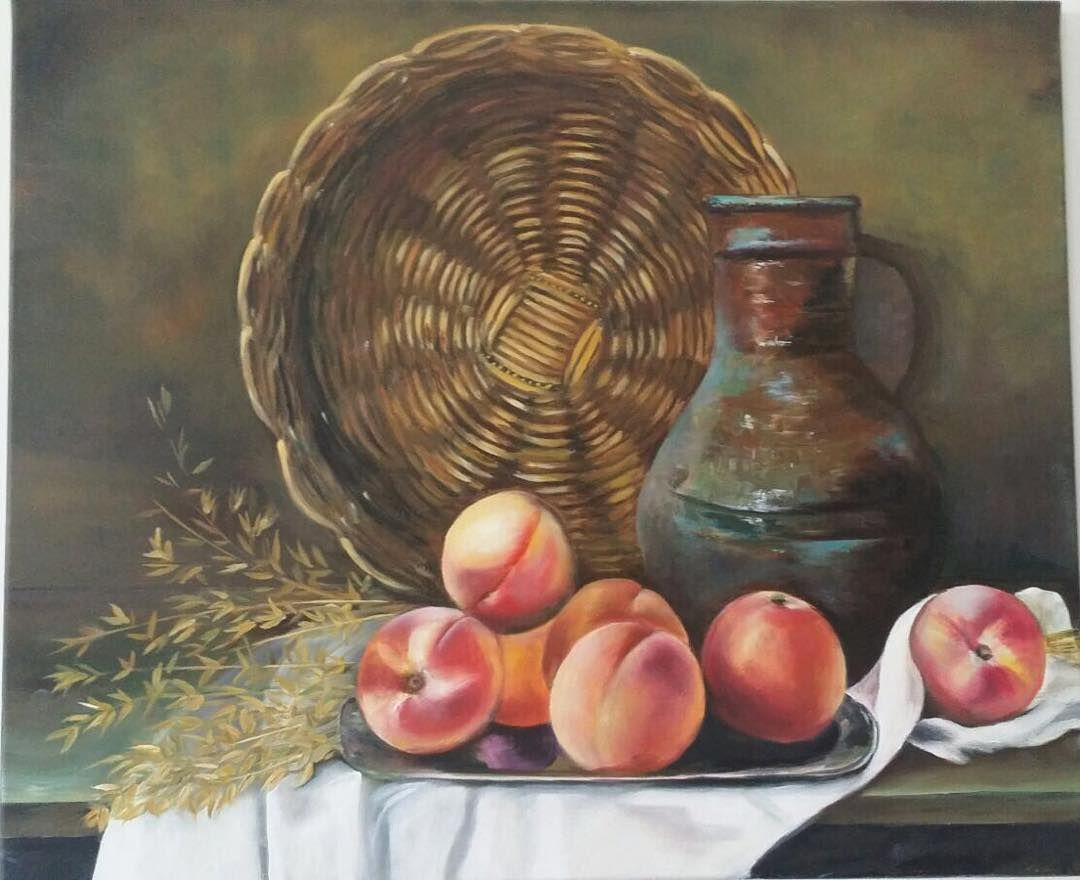 Uae Color Gallery On Instagram لوحة زيتية طبيعة صامتة 60 50 شيرين نشأت السعر 2000 درهم Still Life Oil On Canvas 60 5 Instagram Posts Instagram Art