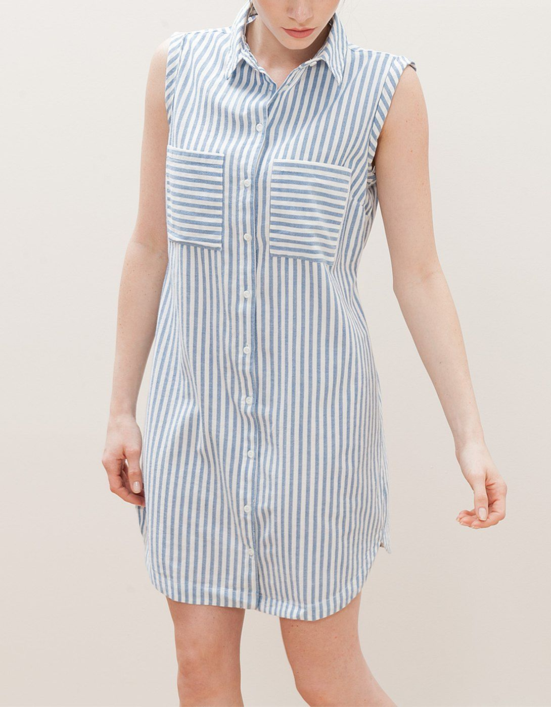 7276fc145861f cute striped shirt-dress