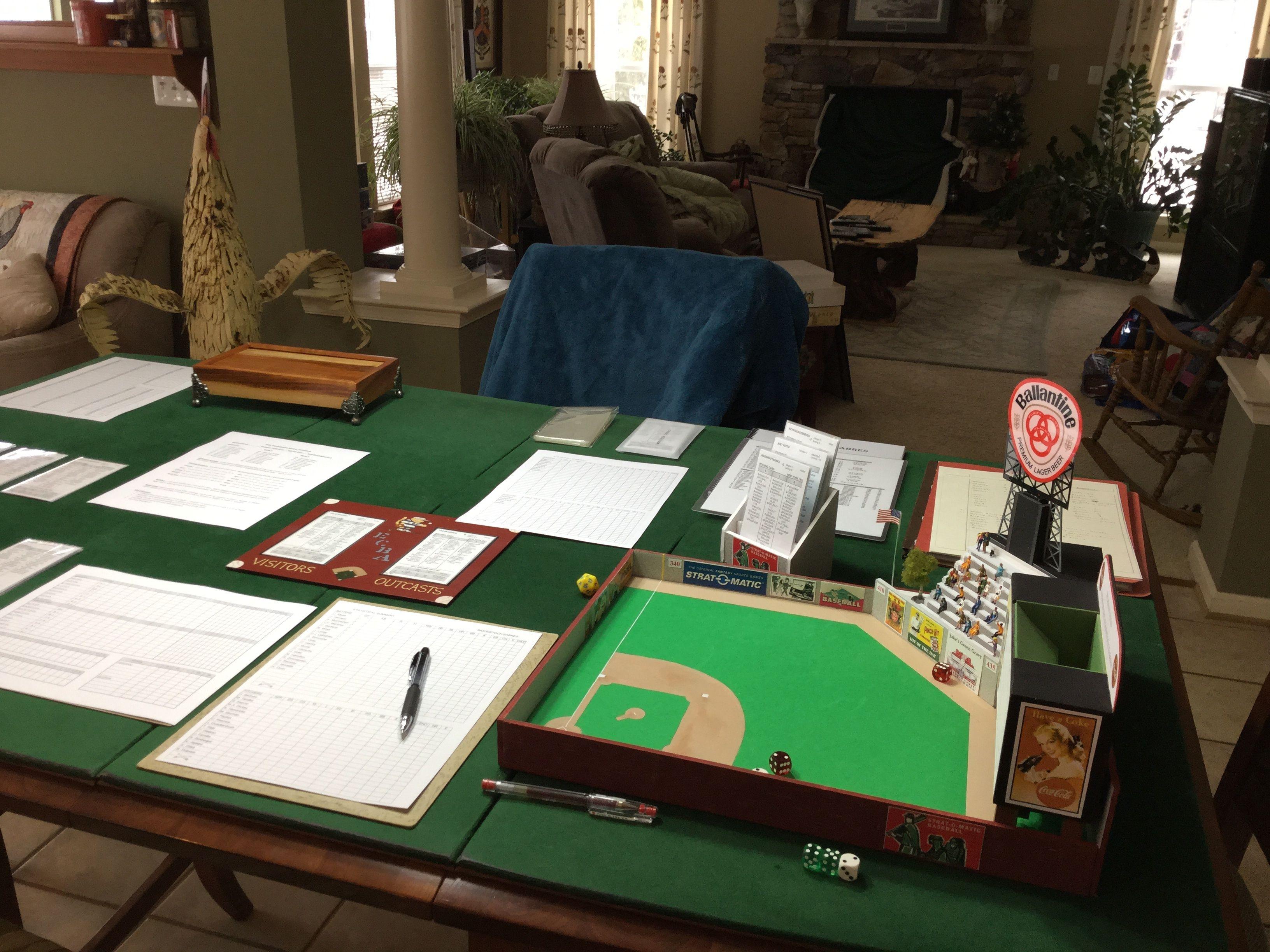 What a game setup stratomatic gaming setup poker table